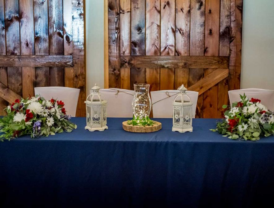 Blue Head Table